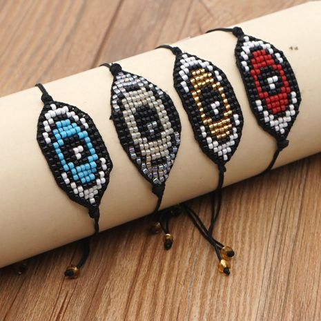 Fashion rice beads hand-woven Devil Eyes religious totem ethnic style bracelet for women NHGW248455's discount tags