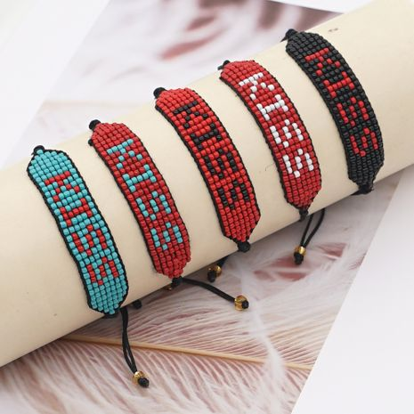 hot-saling rice beads hand-woven LOVE letter bracelet for women NHGW248458's discount tags