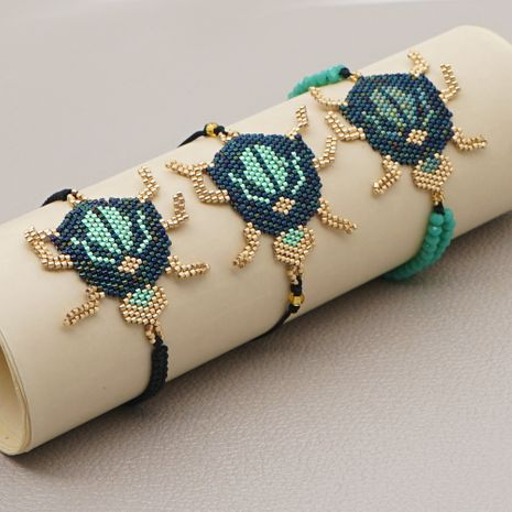 fashion ethnic style tassel antique rice beads handmade beetle bracelet for women NHGW248459's discount tags