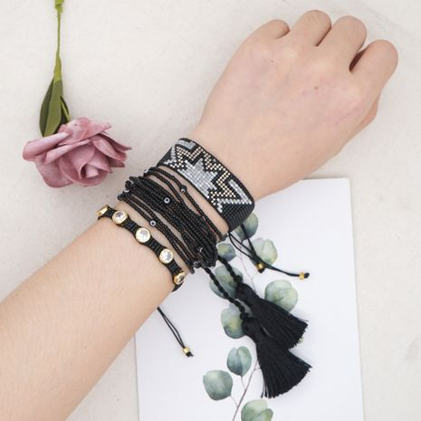 Fashion multi-layer beaded woven suit rice bead geometric bracelet for women NHGW248460's discount tags