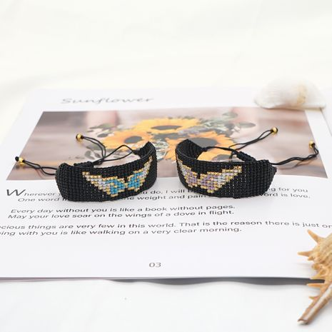 fashion ethnic style rice beads hand-woven angel wings bracelet for women NHGW248461's discount tags