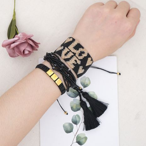 hot-saling multi-layer beaded woven rice bead letter bracelet for women NHGW248462's discount tags