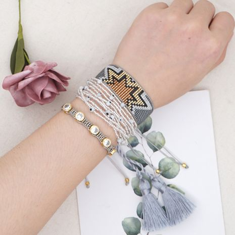 rice bead woven ethnic style multi-layer set of ornaments bracelet for women NHGW248467's discount tags