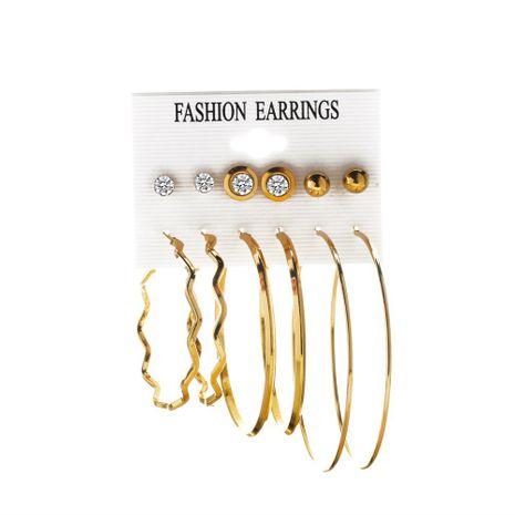 Creative 6 paires ensemble de boucle d'oreille grand cercle exagéré de mode en gros NHMO248491's discount tags