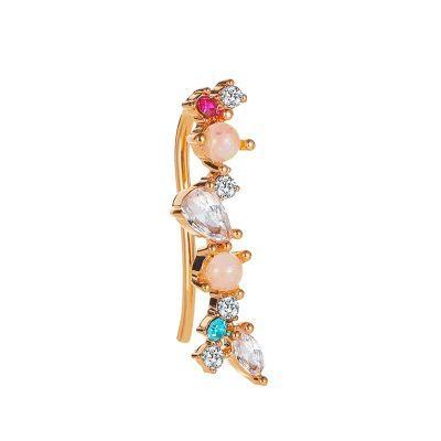 nuevo clip de lóbulo de oreja de ópalo de circonio con incrustaciones de color NHMO248492's discount tags