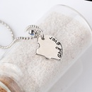 hotselling Best Friends stitching love simple lettering alloy pendant necklace accessories NHMO248494