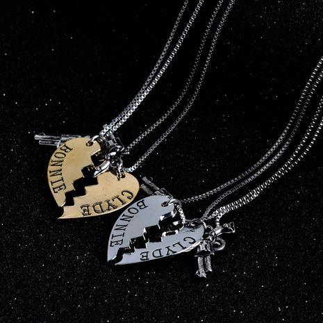 Modeschmuck Revolver Liebe Nähen Paar Legierung Halskette NHMO248499's discount tags