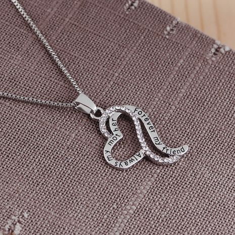 new simple multi-layer love mother's day gift necklace sweater chain accessories NHMO248503's discount tags