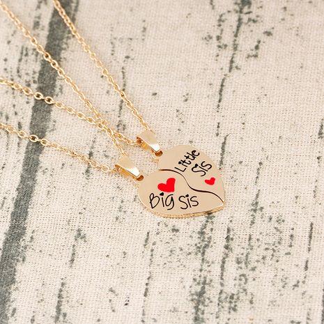 Mode heiß verkauften guten Schwester Brief Gold zwei Blütenblätter Liebe Nählegierung Halskette NHMO248512's discount tags