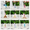 Glitter Acrylic Color Fish Scale Fish Tail Mermaid Mobile Phone Keychain Pendant  NHAP248324