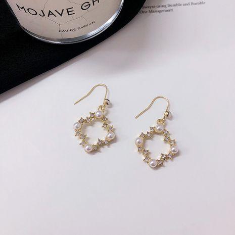 Nouvelles boucles d'oreilles de mode diamant carré géométrique en gros NHWF248516's discount tags