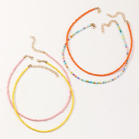 Bohemian Colorful Bead Pearl Beach Holiday Style necklace set wholesale NHNU248523's discount tags
