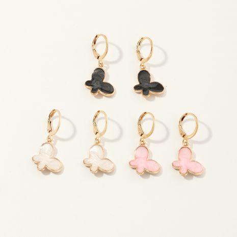 Boucle d'oreille populaire coréenne Boucles d'oreilles papillon super lumineuses en gros NHNU248524's discount tags