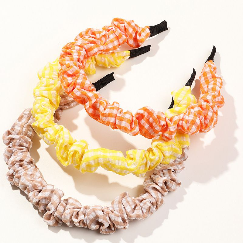 new fashion exaggerated folds color geometric pattern tourist girls hair accessories NHAU248530