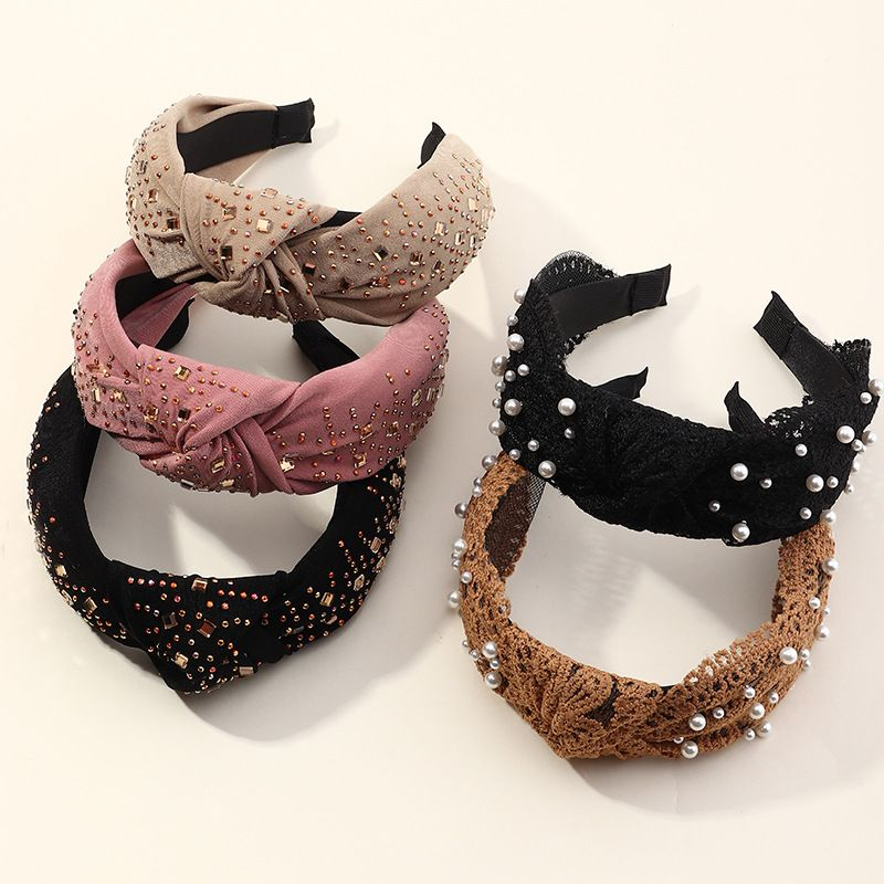 New women's fashion pearl vacation seaside headband hair accessories wedding jewelry NHAU248535