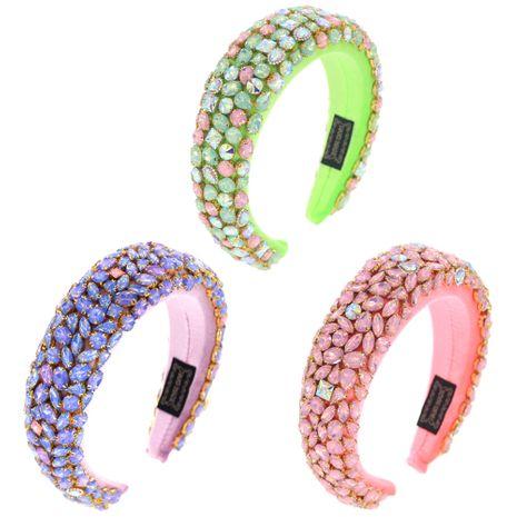 Nuevos accesorios para el cabello de moda de diamantes de imitación de cristal de esponja de color gelatina de tres colores NHCO248542's discount tags