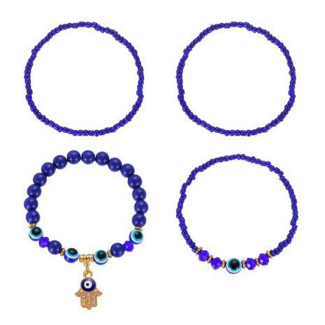 new elastic beaded demon eye alloy bead four-piece women's bracelet NHMO248548's discount tags