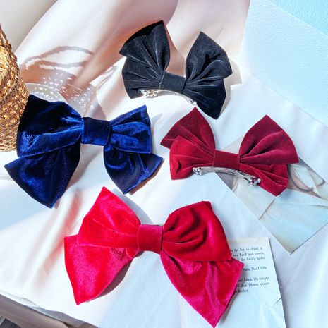 Red big bow hairpin Korean top clip hair clip headdress wholesale nihaojewelry NHPJ248555's discount tags