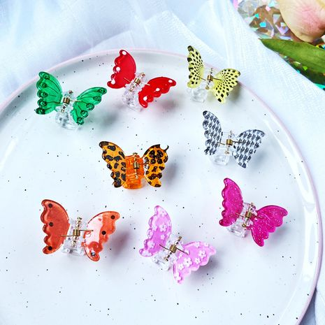 color butterfly clip cute girls hairpin hair clip small bangs clip wholesale NHPJ248560's discount tags