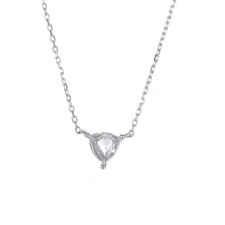 fashion inlaid geometric 925 silver clavicle chain silver necklace for women wholesale  NHTF248569's discount tags