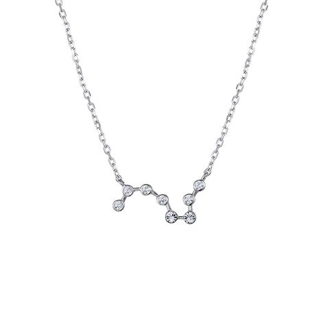Korean new simple fashion 925 silver inlaid zircon constellation necklace for women NHTF248571's discount tags