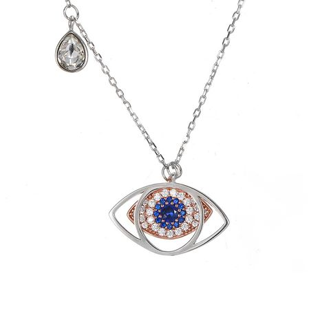 fashion 925 silver blue crystal new demon eye colgante collar para mujer NHTF248572's discount tags