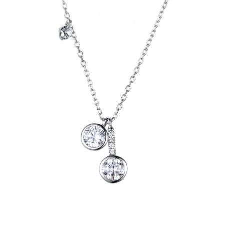 Fashion zircon simple geometric 925 silver pendant necklace NHTF248577's discount tags