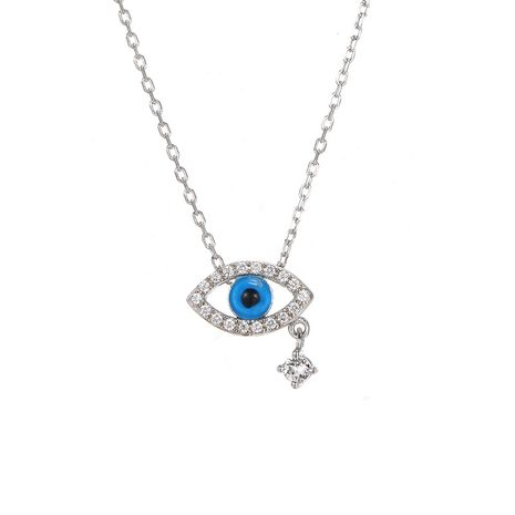 925 Silver new  eye  zircon  fashion Simple necklace  NHTF248583's discount tags