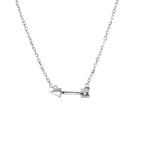 fashion simple retro clavicle chain arrow pendant 925 silver short necklace for women wholesale NHTF248584's discount tags
