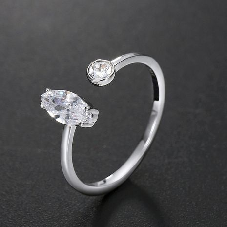 fashion 925 silver simple open zircon ring wholesale nihaojewelry NHTF248593's discount tags