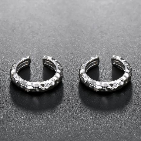 new hot-selling 925 silver C-shaped diamond silver earrings for women wholesale NHTF248610's discount tags