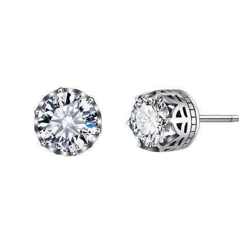 Korean hipster 925 silver white zircon earrings for women NHTF248613's discount tags