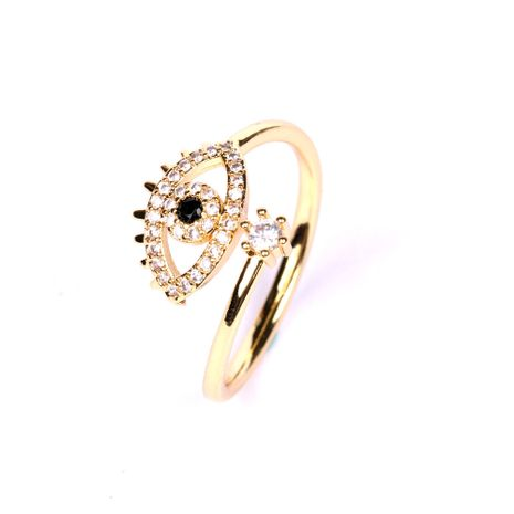 neue Dämonenaugen mikro-eingelegter Zirkon offener Ring kreativer Zeigefingerring Großhandel NHPY248626's discount tags