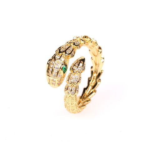 New micro diamond creative snake ring punk exaggerated snake index finger ring wholesale nihaojewelry NHPY248631's discount tags