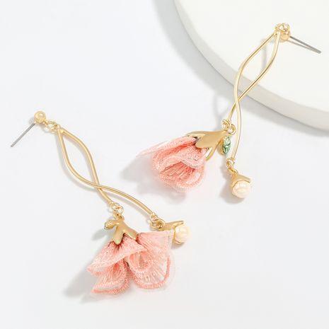 Korea alloy lace flower earrings street shooting wholesale nihaojewelry NHJE248642's discount tags