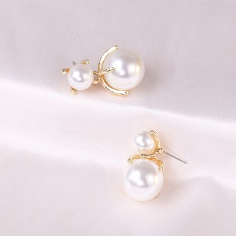 Boucles d'oreilles élégantes de perles simples de mode coréenne pour les femmes en gros NHJJ248652's discount tags