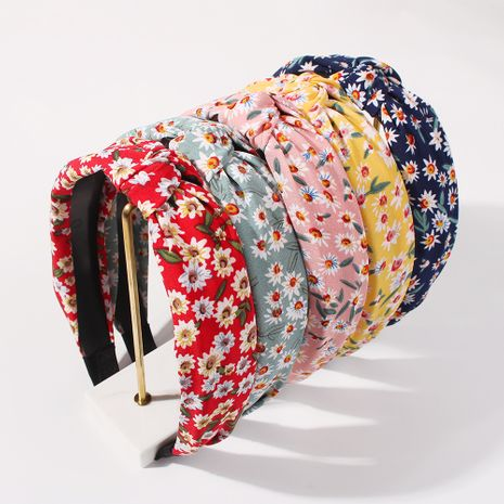 hot-selling new simple yarn material women antique colorful wide-brimmed headband  NHMD248672's discount tags