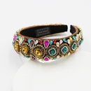 New Baroque Color Full Diamond Big Gem Sponge Ladies Hair Hoop Hair Accessories NHWJ248689
