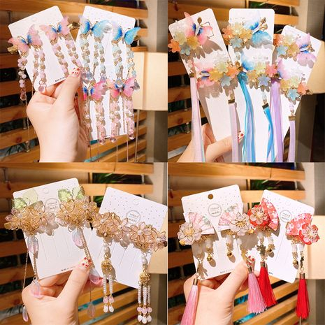 bowknot  Chinese style tassel hairpin set  NHSA248697's discount tags