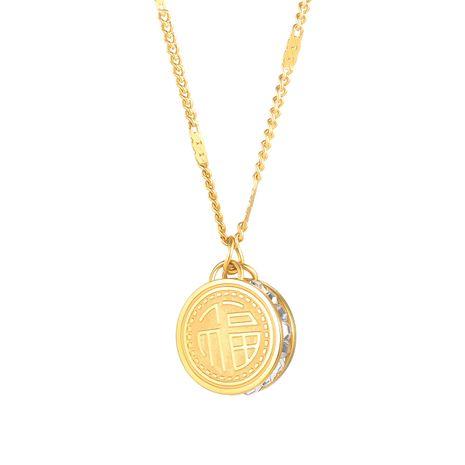 New zircon titanium steel women's necklace  NHOP248709's discount tags