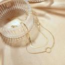 Fashion doublelayer titanium steel simple necklace niche clavicle chain for women jewelry wholesale NHOP248718