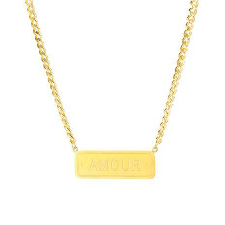 hot-saling new simple exquisite square brand ladies titanium steel pendant necklace  NHOP248720's discount tags