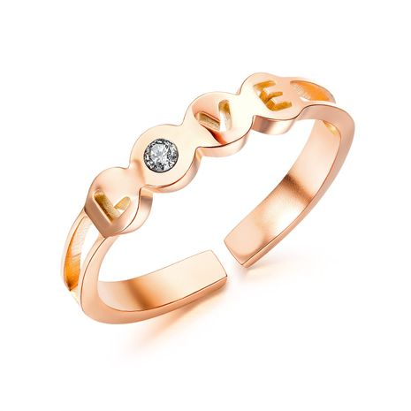 hot selling ring hollow love titanium steel zircon adjustable ring wholesale nihaojewelry NHOP248727's discount tags