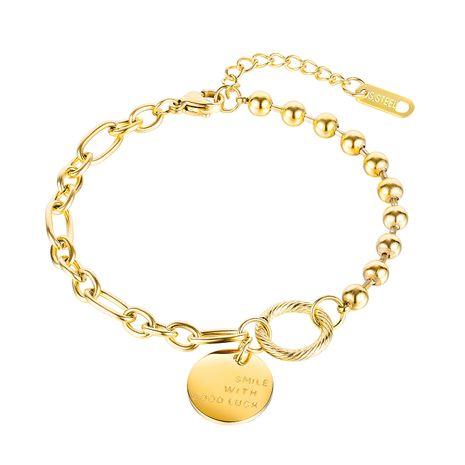 moda afortunada pulsera de acero de titanio para mujer venta al por mayor caliente NHOP248726's discount tags