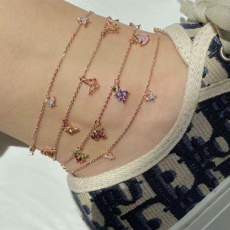 Mode été nouveau bracelet de cheville en alliage d'élément de fruit de cerise NHAJ248733's discount tags
