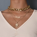 Cupid letter pendant bead chain alloy necklace for women jewelry  NHAJ248745