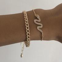Venta al por mayor popular de la pulsera de la moda de la serie determinada de la combinación del brazalete de las mujeres NHAJ248757
