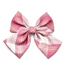girl lattice oversized bow hairpin top clip handmade hair accessories wholesale NHCL248805
