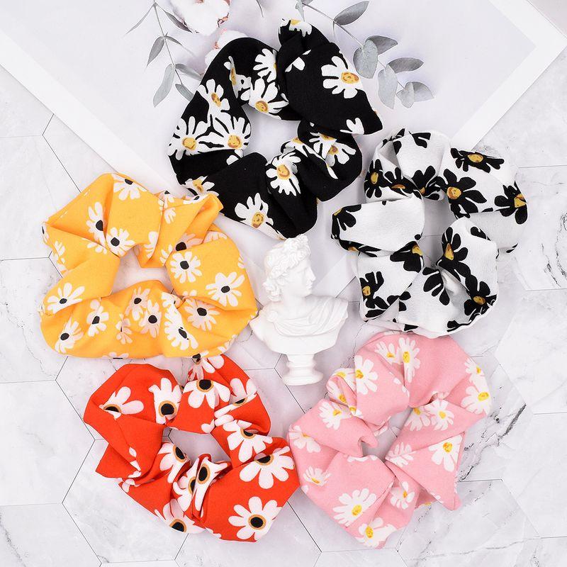 New small daisy simple flower hair ring fashion hair scrunchies  NHCL248810