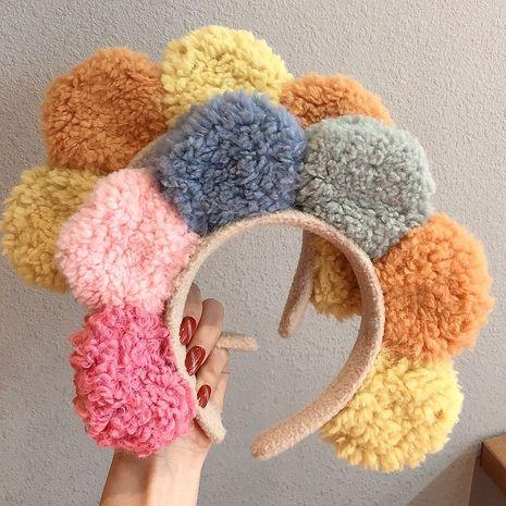 Diadema coreana de pelo de cordero con horquilla de maquillaje de lavado lateral ancho de moda NHCQ248883's discount tags
